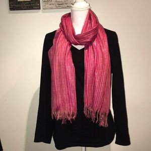 Pink Striped Scarf